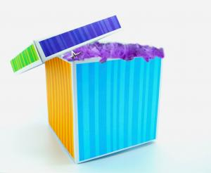 colorful make believe box