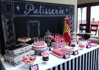 Paris theme dessert table by LOVEinc. Dessert Styling