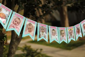 First Birthday Party Photo Banner