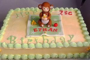 Little Monkey Birthday Cake