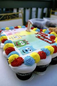 Yo Gabba Gabba Cupcake Cake