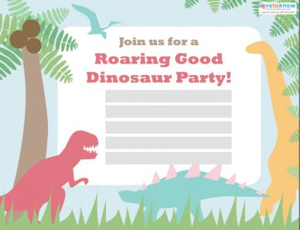 Click to download the dinosaur birthday invite.