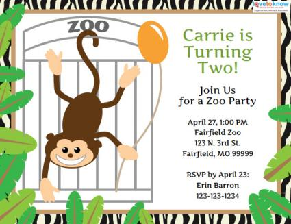 Zoo birthday invitations wblqual zoo birthday invitation templates birthday invitations stopboris Gallery