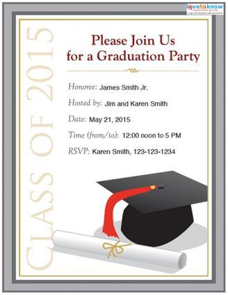 college graduation party invitation options, Party invitations