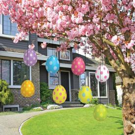 Easter Yard Decorations - Hanging Easter Eggs