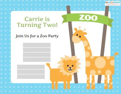 zoo birthday invitation templates, Birthday invitations