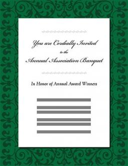 Banquet invitation template