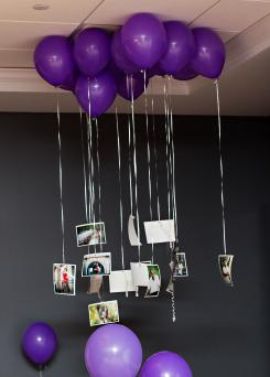 Photos on baloon strings