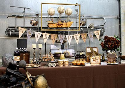 Frolic Parties Steampunk table decorations