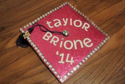 Taylor Brione graduation cap