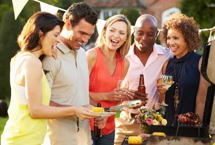 Friends Enjoying Summer Barbeque