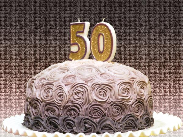 50th birthday party cake
