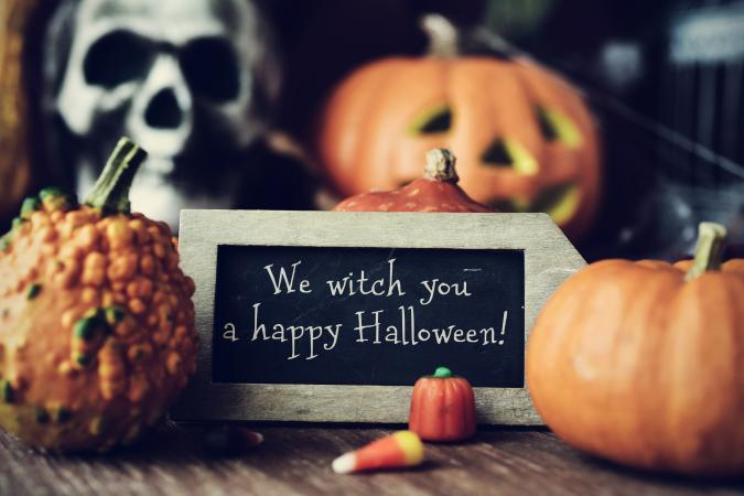 cute Halloween sign
