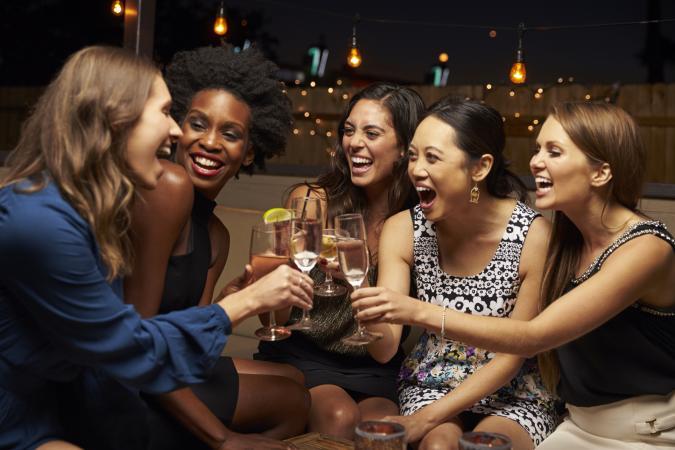 Female Friends Enjoying Night Out