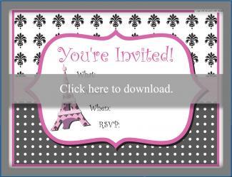Pink Eiffel Tower Invite
