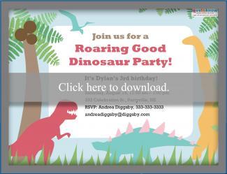 Dinosaur Birthday Party Invitation