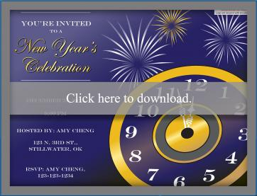 Printable New Years Eve Party Invitations