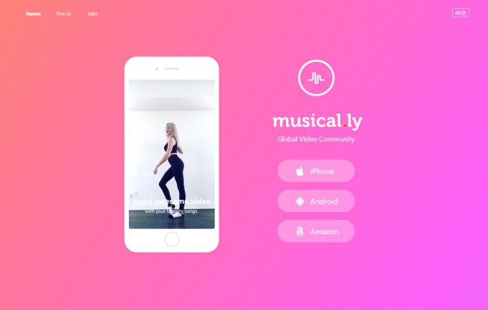 Screenshot of Musical.ly