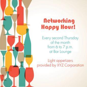Work Happy Hour Invite Wording Examples LoveToKnow - Birthday invitation wording happy hour