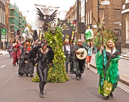 Beltane Pagan Festival Parade