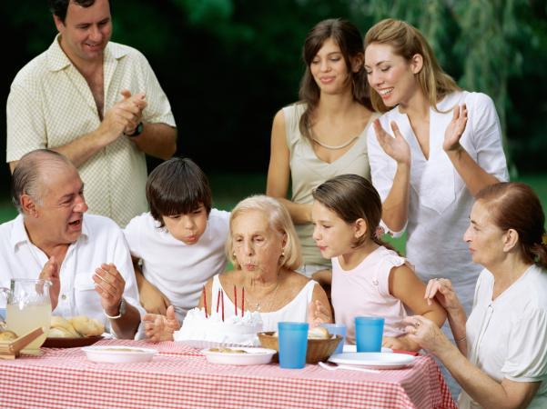 Celebrating mother-in-law's birthday