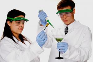 Laboratory Halloween party drinks