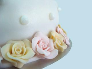 Quinceañera cake detail
