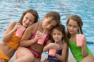 kids at pool party