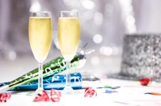 New Years champagne and Auld Lang Syne
