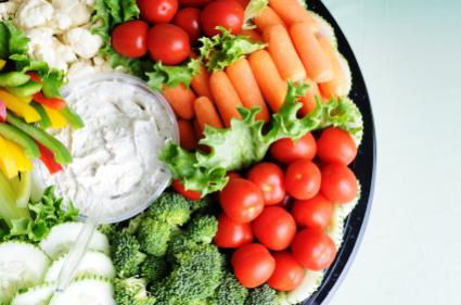 Party trays and dips go great at a party!