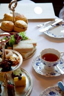 Food at tea party