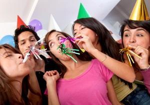 having fun at a party