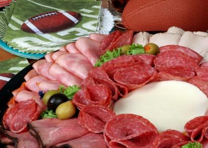 Football food platter.