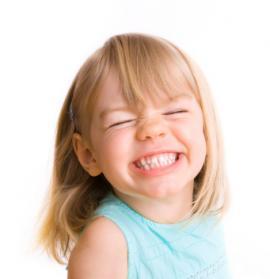 girl grinning