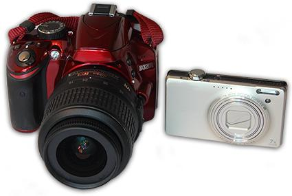 SLR and point and shoot digital camera
