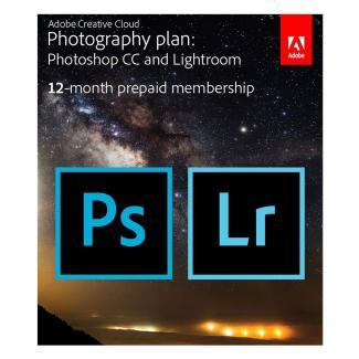 Adobe Creative Cloud Photography plan (Photoshop CC + Lightroom) Prepaid Card