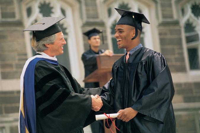 getting diploma
