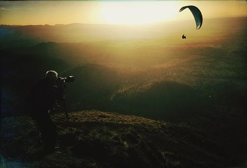 Photographing Person Paragliding