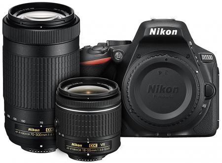 Nikon D5500 DX-format Digital SLR Dual Lens Kit