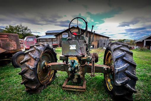 Vintage Old Rusty Tractor