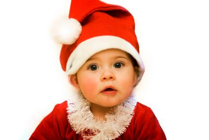 baby with Santa hat