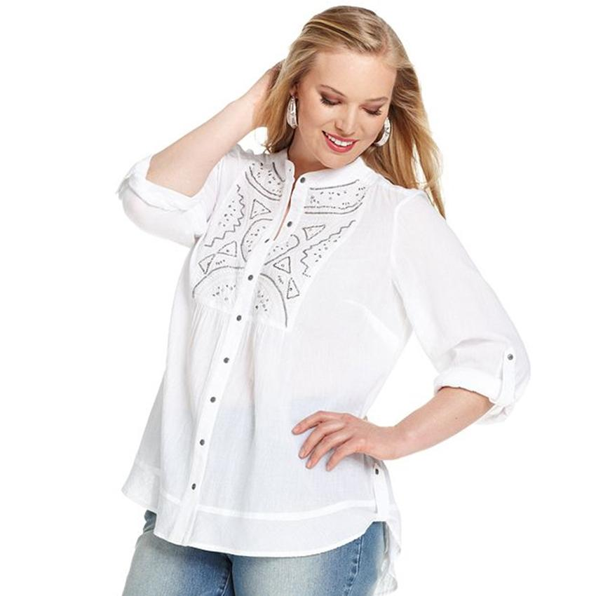 Plus Size White Blouse | LONG HAIRSTYLES