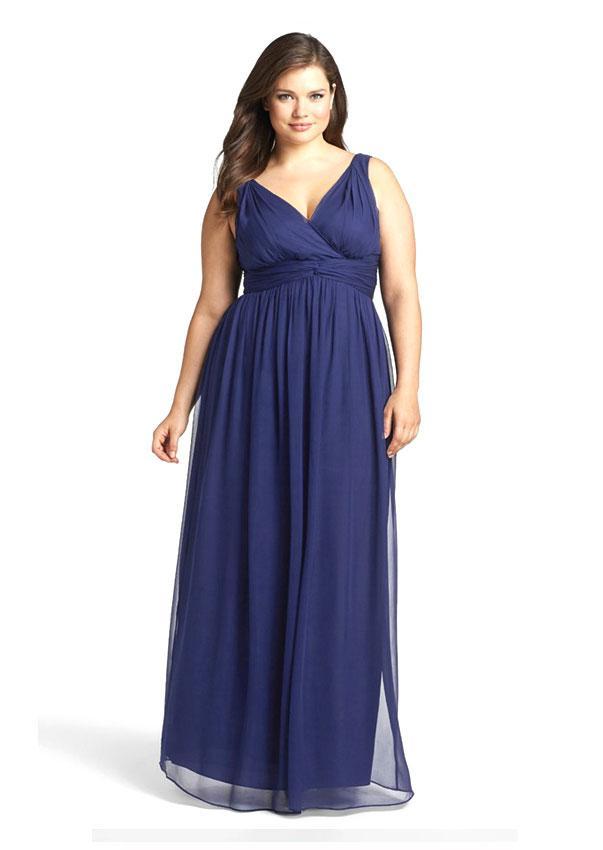 Платье в пол для полных девушек своими руками