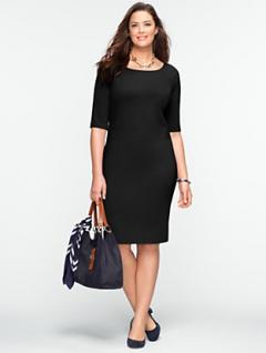 Ponte Elbow-Sleeve Dress from Talbot's