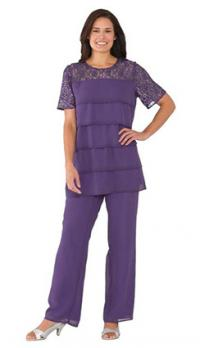 Emejing Dressy Pant Suits Plus Size Contemporary - Mikejaninesmith ...