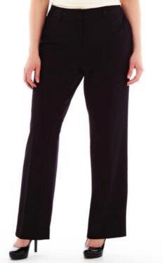 Liz Claiborne - Plus-Size: Dress Pants: LCW Audra Bi-Stretch ...