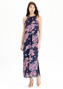 Old Navy Floral Chiffon Maxi Dress
