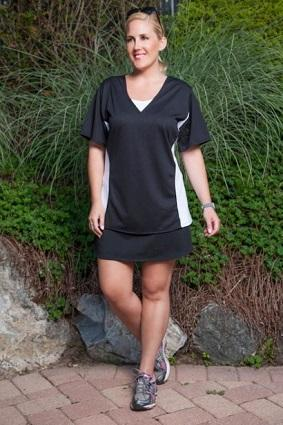 Color Block Plus Size Tee Shirt from alwaysforme.com