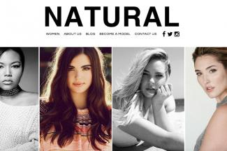 Screenshot of Natural Models LA website