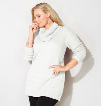 Mixed Stitch Cowlneck Pullover